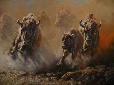 Art Of Mia Delode Painting - Blazing Thunder by Mia DeLode