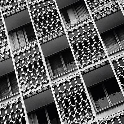 Architectureporn Photograph - Bldg. ( Details ) - Miami by Joel Lopez