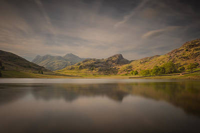Langdale Pikes Photograph - Blea Tarn Lake District by Andy Astbury