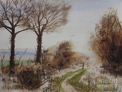 Cold Temperature Painting - Bleak Midwinter Walk by Martin Howard