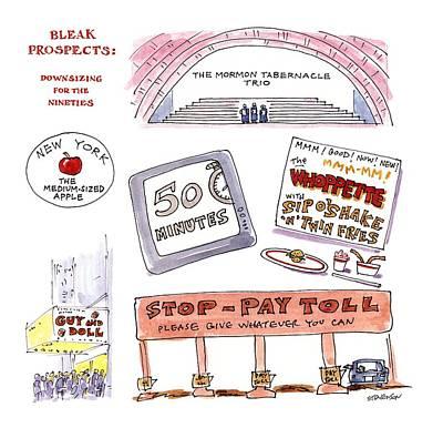Bleak Prospects: Downsizing For The Nineties Art Print