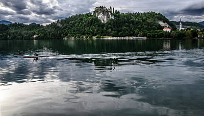 Quadro Photograph - Bled Lake Landscape by Luca Lorenzelli