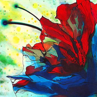 Drawing - Bleeding Flower by Andrea Carroll