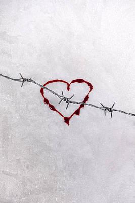 Bleeding Love Art Print by Joana Kruse