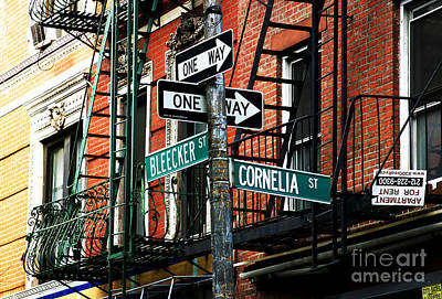 Nyc Fire Escapes Photograph - Bleeker And Cornelia by John Rizzuto