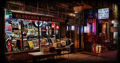 Bleeker Bob's Records Art Print by Lee Dos Santos