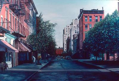 Awnings Painting - Bleeker Street by Anthony Butera