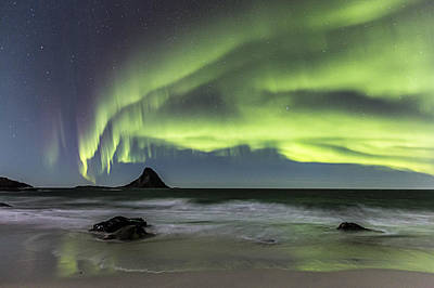 Northern Lights Photograph - Bleik Island by Frank Olsen
