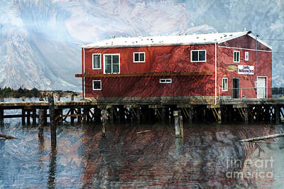 Photograph - Blended Oregon Dock And Structure by Ronald Hoggard