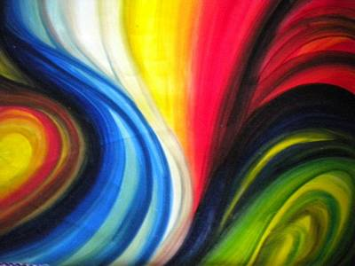 Painting - Blending Souls Abstract Painting by Rohini Yadawar