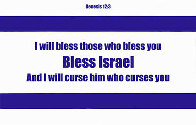 Digital Art - Bless Israel Poster by David Clode
