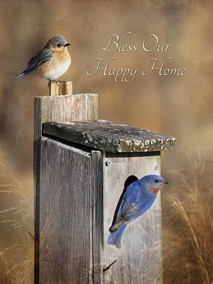 Bless Our Happy Home Art Print by Lori Deiter