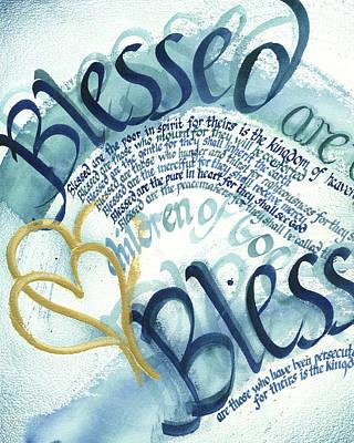 Christian Sacred Mixed Media - Blessed by Amanda Patrick
