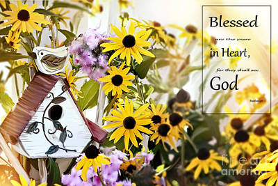 Blessed Are The Pure In Heart Art Print by Stephanie Frey