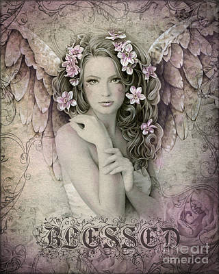 Angel Art Mixed Media - Blessed by Jessica Galbreth
