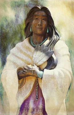 Photograph - Blessed Kateri Tekakwitha  by Sandra Selle Rodriguez