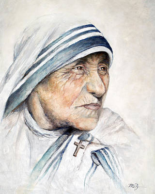 Mother Teresa Painting - Blessed by Mary Zins