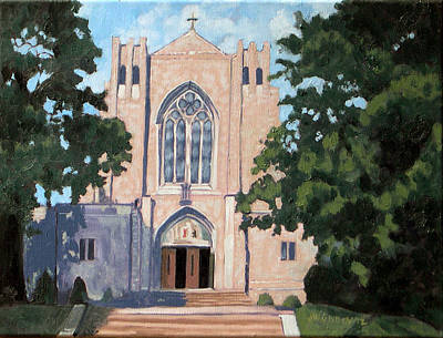 Painting - Blessed Sacrament Church by Joan McGivney