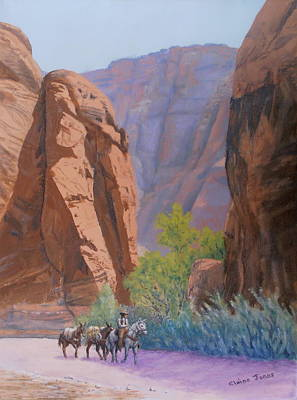 Blessed Shade In The Canyon Art Print by Elaine Jones