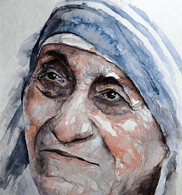 Mother Theresa Painting - Blessed Teresa by Laur Iduc