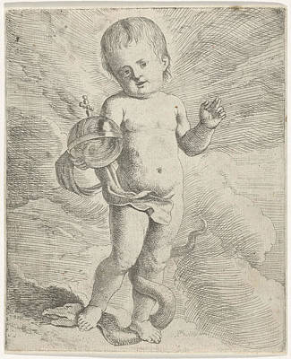 Blessings Drawing - Blessing Christ Child, Anonymous by Anonymous