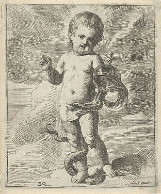 Blessings Drawing - Blessing Christ Child, Erasmus Quellinus II by Erasmus Quellinus (ii) And A. Bacx