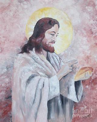 Blessing Of The Bread Art Print