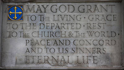 Westminster Abbey Wall Art - Photograph - Blessing by Stephen Stookey