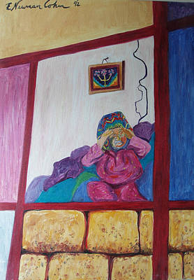 Shabbos Painting - Blessing The Candles by Esther Newman-Cohen