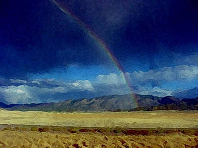 Painting - Blessings And Rainbows by Dennis Buckman