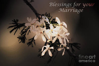 Blessings For Your Marriage Art Print by Cassandra Buckley
