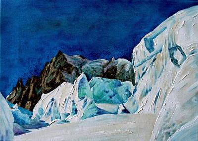 Chamonix Painting - Bleu Glacier by Danielle Arnal