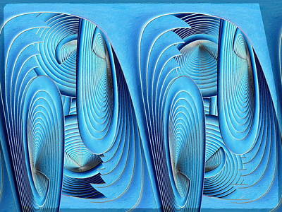 Digital Art - Blew On Blue by Tim Allen