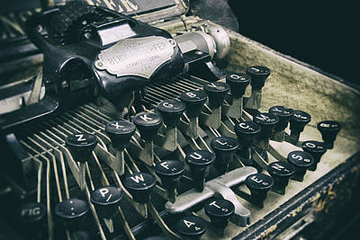 Typewriter Keys Photograph - Blickensderfer Typewriter by Daniel Hagerman