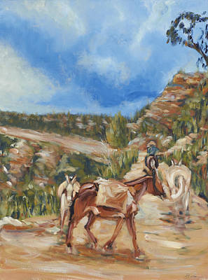 Painting - Blind Angel Trail  by David  Llanos