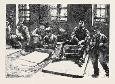 Blind Basket-makers 1871 Art Print by English School