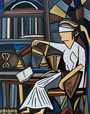 Blind Justice Original by Karen Serfinski