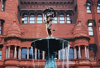 Digital Art - Blind Naked Justice Statue Bexar County Courthouse San Antonio Texas Cutout Digital Art by Shawn O'Brien