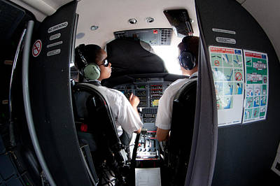 Cockpit Photograph - Blind Training by Paul Job