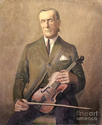 Painting - Blind Violinist 1929 by Art By Tolpo Collection