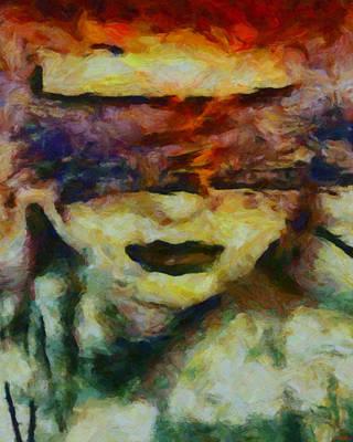 Art Print featuring the digital art Blinded By Sorrow by Joe Misrasi