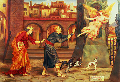 Painting - Blindness And Cupidity Chasing Joy From The City by Evelyn De Morgan