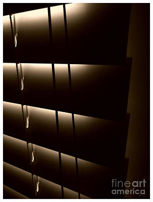 Sepia Photograph - Blinds by Jeff Breiman