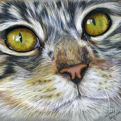 Painting - Stunning Cat Painting by Michelle Wrighton