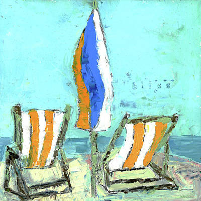 Beach Chair Painting - Bliss Beach Chairs by Pamela J. Wingard