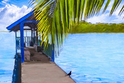 Photograph - Bliss Found On A Tropical Pier - Nicaragua by Mark E Tisdale
