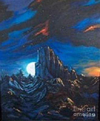 Yvonne Cacy Painting - Bliss Of Dawn Shiprock by Yvonne Cacy
