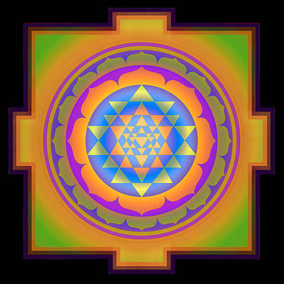 Bliss Yantra Art Print by Svahha Devi