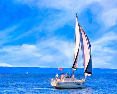 Photograph - Blissful Afternoon Sailing On Monterey Bay by Mark E Tisdale