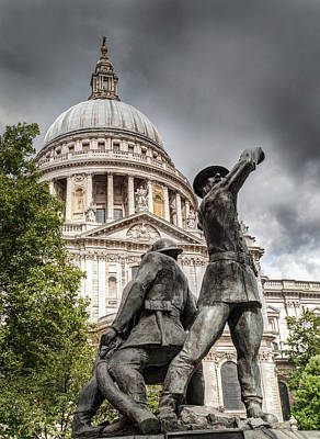 Photograph - Blitz Firefighters Memorial by Gary Eason